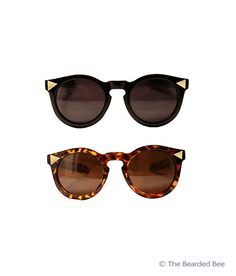 Retro Wayfarer Sunglasses in Black or Tortoise Shell - Customized Glasses
