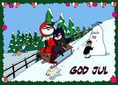 Julekort til Dansk Tegneserieråd Illustration, Christmas, Anime, Art, Noel, Xmas, Art Background, Kunst, Navidad