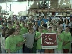 Lowell wish project donate your time and help sort goods or other Jobs the might need help with that day.