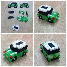 Beading Projects Perler Beads Car Spring Cleaning Tips: Garage Floo Hama Beads 3d, Hama Beads Design, Diy Perler Beads, Perler Bead Art, Fuse Beads, Easy Perler Bead Patterns, Melty Bead Patterns, Perler Bead Templates, Beading Patterns