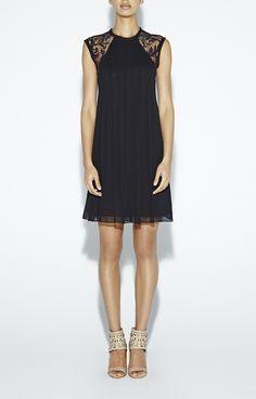 black lightweight lace dress #artelier