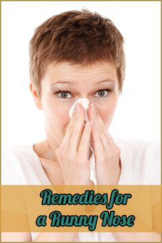 If you are outside a runny nose can be very messy. | How to get rid of...