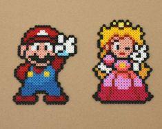 Mario Peach duo Perler Hama Beads