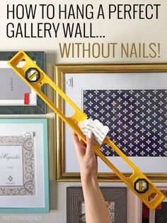 Okay seriously this is the most brilliant home decor tip I have ever seen! Gallery walls are not overwhelming anymore!