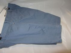 Bass Mens Casual, Dress, Walking,Shorts SZ 32, 100% Cotton, Blue, Flat front #Bass #CasualShorts