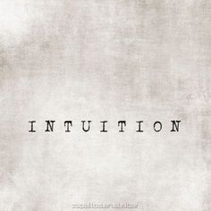 """in·tu·i·tion ˌint(y)o͞oˈiSH(ə)n/ noun noun: intuition...      the ability to understand something immediately, without the need for conscious reasoning.     """"we shall allow our intuition to guide us""""     synonyms:instinct, intuitiveness; More     sixth sense, clairvoyance, second sight     """"he works according to intuition""""         a thing that one knows or considers likely from instinctive feeling rather than conscious reasoning."""