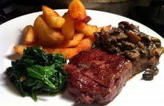 Recipe Shed: Sirloin Steak with Miso Mushroom Sauce Sirloin Steaks, Beef Steak, Tonkatsu, Romanian Food, Mushroom Sauce, How To Cook Steak, Carne, Stuffed Mushrooms, Food And Drink