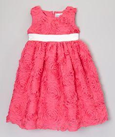 Loving this Fuchsia & White Rosette Dress - Infant, Toddler & Girls on #zulily! #zulilyfinds