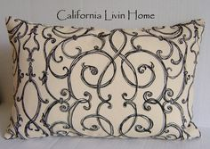 Tuscan Gate pillow. would like to use the printing on fabric idea and print something like this and make pillows!!!