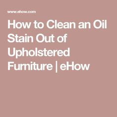 how to get oil stain out of silk