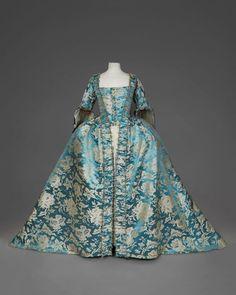 "fripperiesandfobs: "" Robe à la française, mid-18th century From Daguerre Auctions on Pinterest """
