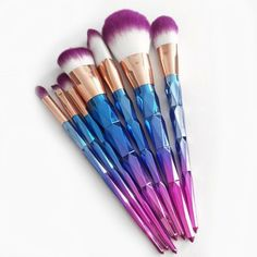 Rainbow Makeup Brush Set