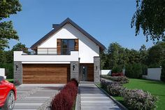 Modern Architecture House, Architecture Design, Home Greenhouse, Bungalow Renovation, New Home Designs, Estate Homes, Exterior Design, Home Reno, Building A House