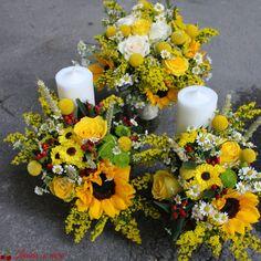 Lumanari botez sau nunta Wedding Decorations, Table Decorations, Weeding, Wedding Details, Pineapple, Bouquet, Popular, Home Decor, Sunflowers