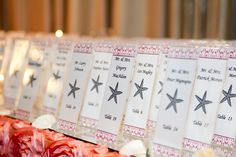 Easy and Simple Place Cards for a Beach Theme Wedding | Springfield Country Club | Photograph by Krista Patton Photography
