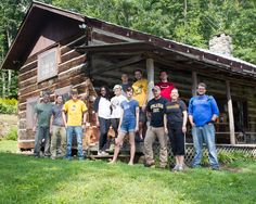 Appalachian State University folks are working to determine the age of log cabins at the remote Bear Paw State Natural Area (managed by Elk Knob State Park staff). One of the cabins may eventually become an education center