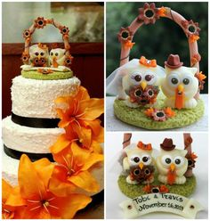 Wedding+owl+cake+topper+love+bird+with+brown+by+PerlillaPets