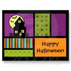 Happy Halloween Scrapbook Style Post Cards from Zazzle.com