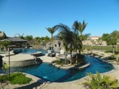 Summer is almost here!☀️ Take a look at my latest blog and the included listings for homes in Gilbert, Queen Creek, and San Tan Valley, Arizona with a private pool!  https://pinkertonproperties.com/homes-in-gilbert-queen-creek-and-san-tan-valley-arizona-with-private-pools/ Backyard Lazy River, Lazy River Pool, Swim Up Bar, Spa Design, House Design, Keep Swimming, Swimming Pools, Cool Pools, Awesome Pools