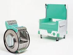 Designer transforma lavadora de roupas em cadeiras