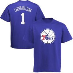 887682719 Michael Carter-Williams Philadelphia 76ers Name and Number T-Shirt - Royal  Blue