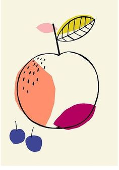 Fruit illustration, Susan Driscoll surface pattern design What i like about this work, is that it uses only 5 colors in this simple illustration Art And Illustration, Pattern Illustration, Illustrations And Posters, Papier Kind, Art Watercolor, Design Poster, Arte Floral, Grafik Design, Surface Pattern Design