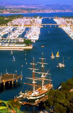 Irvine, California — View of Dana Point Harbor. Courtesy of Anaheim/Orange County Visitor & Convention Bureau.