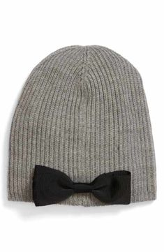 8184de3afe0 kate spade new york grosgrain bow knit beanie Grosgrain