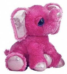 "10"" Aurora Plush Shimmer the Pink Elephant Stuffed Animal Toy Dreamy Eyes 21213 #Aurora #DreamyEyes"