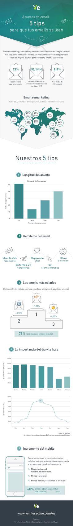 5 consejos para que tus email se lean #infografia