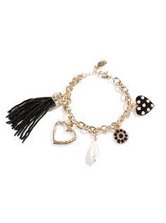 Wild Thing Tassel Charm Bracelet | GUESS.com