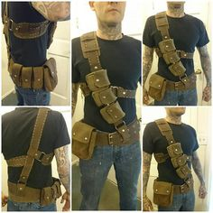Leather Fallout Inspired Harness KIT Armures, Fallout Weapons, Fallout Props, Fallout Costume, Fallout Cosplay, Leather Kits, Leather Armor, Leather Craft, Leather Utility Belt