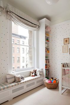 nursery with pops of
