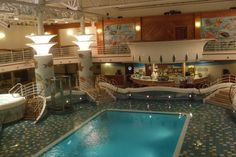 A small pool inside the cruise ship  (photo by: Suzy-ann Moran)