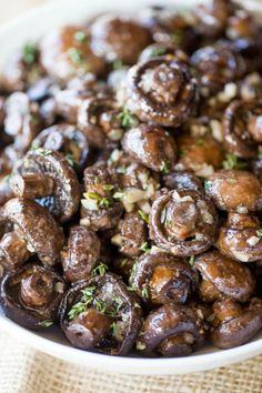 Garlic Butter Mushrooms so easy to make and such an impressive side dish your guests will love for your favorite holiday meal or dinner party.