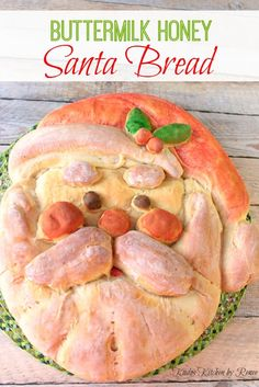 Buttermilk Honey Santa Bread recipe with easy step-by-step instructions on how to assemble this jolly old elf. Kudos Kitchen by Renee