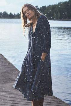 Acadie Tie-Neck Dress