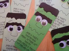 These may be party invites, but I see fun Halloween bookmarks!