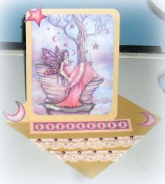 Fairypixeler Cards: Twisted Easel Pearls & Lace