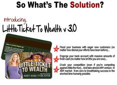 There remains countless network marketing businesses nowadays that from time to time it becomes problematic to choose which business to join. That is why it is vital to read reviews of different businesses in advance of determining to join. Odds are you must have found this evaluation while searching for info about Little Ticket to Wealth Review.