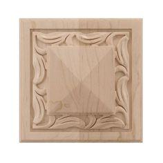 Designs Of Distinction Large Nouveau Tile Applique Wood Appliques, House Trim, Solid Wood, Restoration, Hardwood, Floral Design, Tile, Carving, Frame