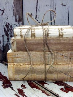 Distressed Decor,Interior Design,Old Books,Farmhouse,Book bundle,French Country Home, Pottery Barn, Wedding Photo Prop. $19.00, via Etsy.