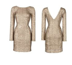 possible pattern for DIY sequin dress