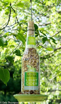 Michelob Bird Feeder DIY | Just Short of Crazy Recycle Upcycle.