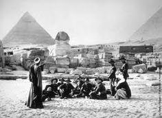 Members of the New Zealand forces resting with their native guides during a visit to the #Sphinx  Book your vacation to #Egypt with Blue Sky Travel... Egypt Holidays  Egyptian Travel agency www.blueskygroup.net