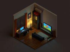 Voxel room by TC #Design Popular #Dribbble #shots