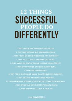 Do differently and become succesfull!