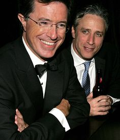 Steven Colbert and Jon Stewart