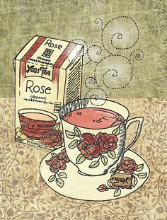 rose-tea by Marit Cooper, via Flickr! Best companion to books, fashion and a lipstick!