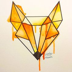 Apr 2020 - Fox Watercolor by Winter-Hooves on DeviantArt - Fuchskopf au geometrischen Formen und Aquarell - Cool Art Drawings, Pencil Art Drawings, Art Drawings Sketches, Easy Drawings, Geometric Drawing, Geometric Shapes, Geometric Tattoos, Geometric Designs, Diy Painting